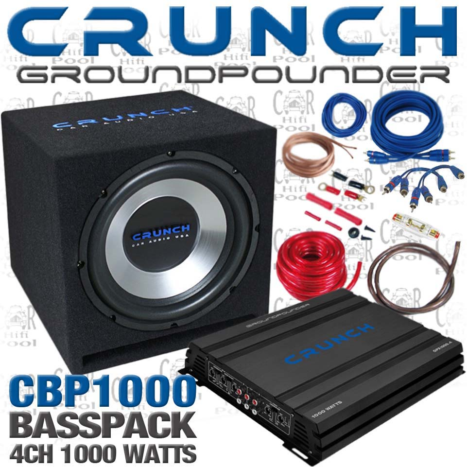 CRUNCH-CBP1000-Auto-Car-Hifi-Komplett-Anlage-Set-Kfz-1000-Watt
