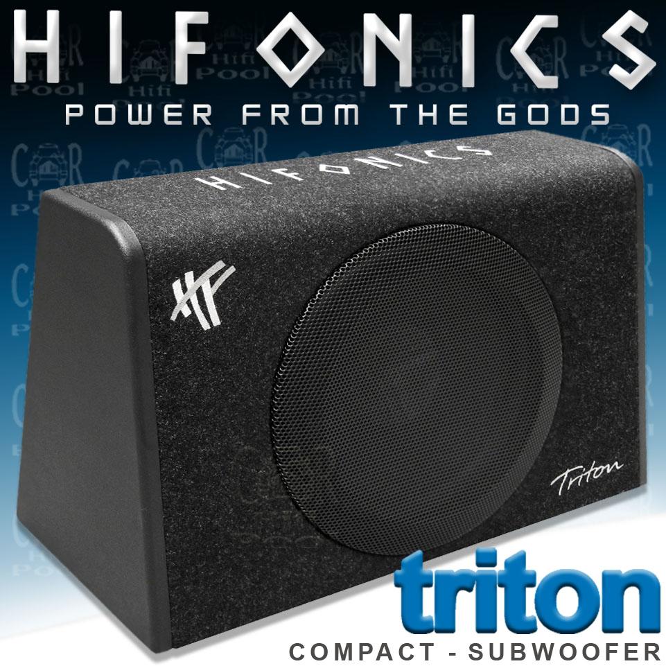 hifonics triton trs 300 kompakt geh usesubwoofer woofer. Black Bedroom Furniture Sets. Home Design Ideas