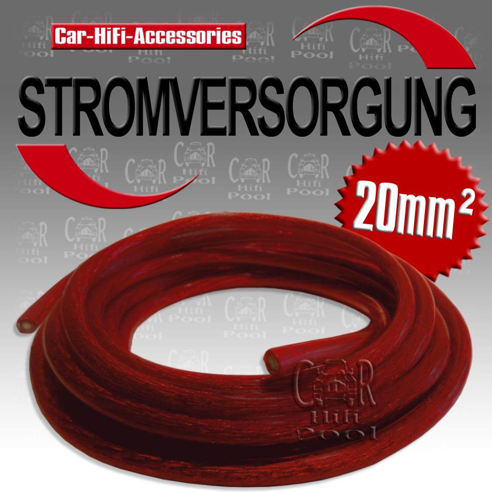 eco520ba 5m 20 mm stromkabel kfz hifi pluskabel kabel rot. Black Bedroom Furniture Sets. Home Design Ideas