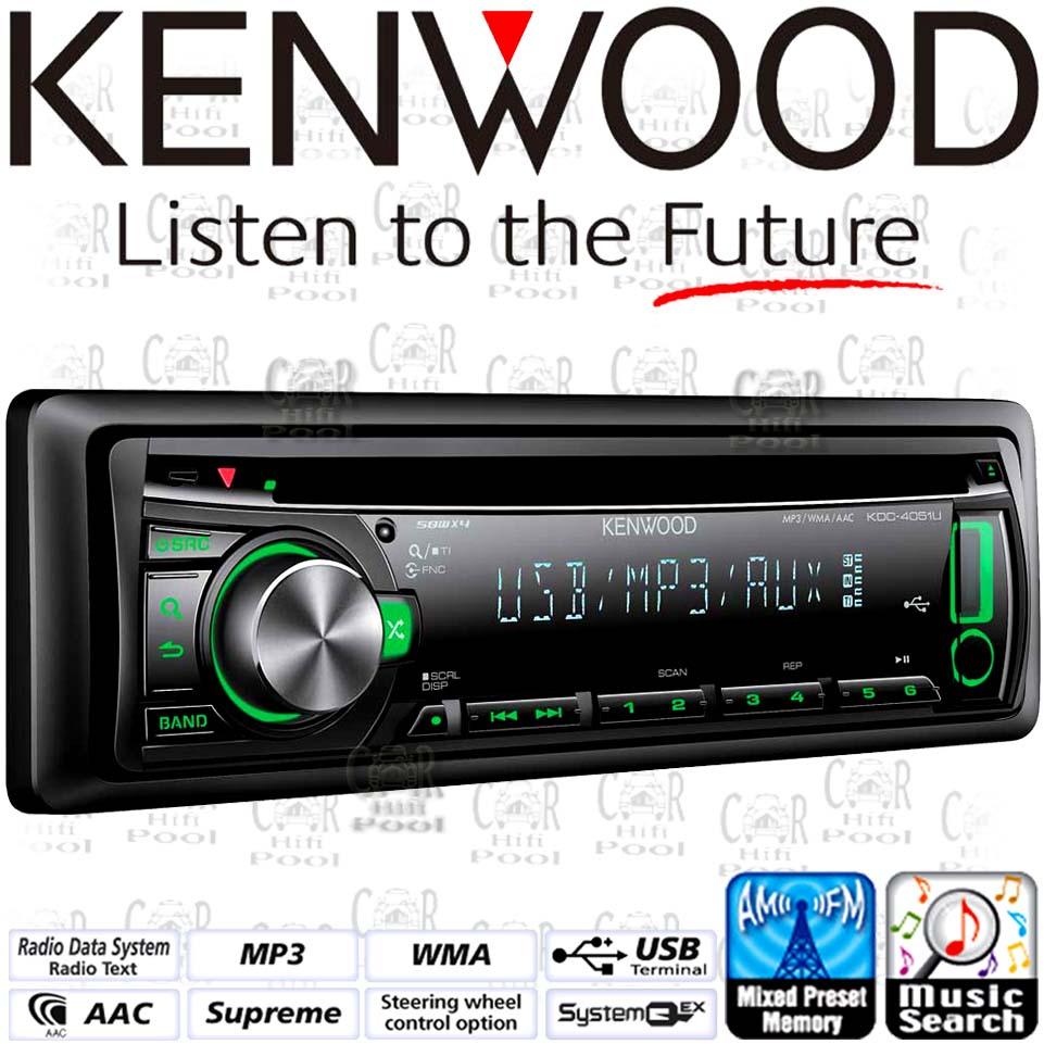 kenwood kdc 4051ug gr n autoradio mp3 usb cd receiver ebay. Black Bedroom Furniture Sets. Home Design Ideas