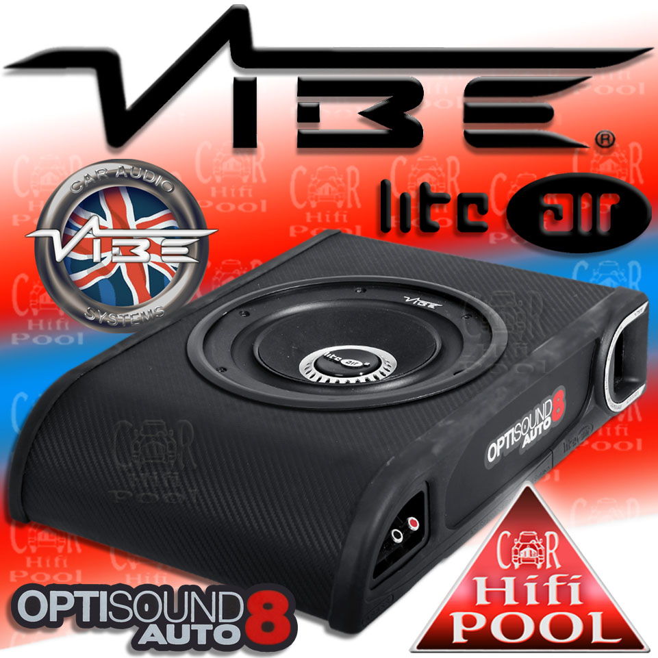 vibe liteair optisound auto 8 bass box system subwoofer. Black Bedroom Furniture Sets. Home Design Ideas
